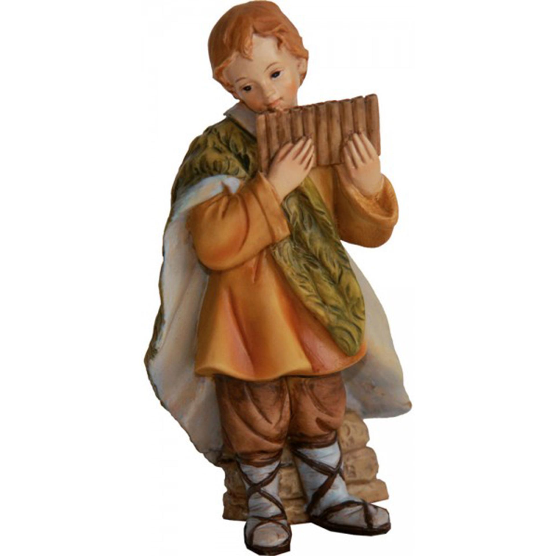 Krippe Zusatzfigur Kind mit Panflöte