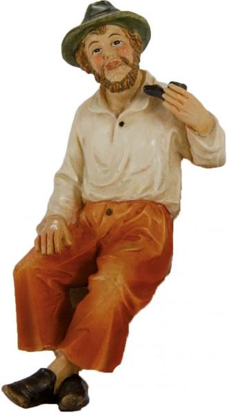 Großvater sitzend mit Pfeife, für 10-11cm Figuren