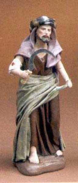 Krippenfigur Hirte Sichel