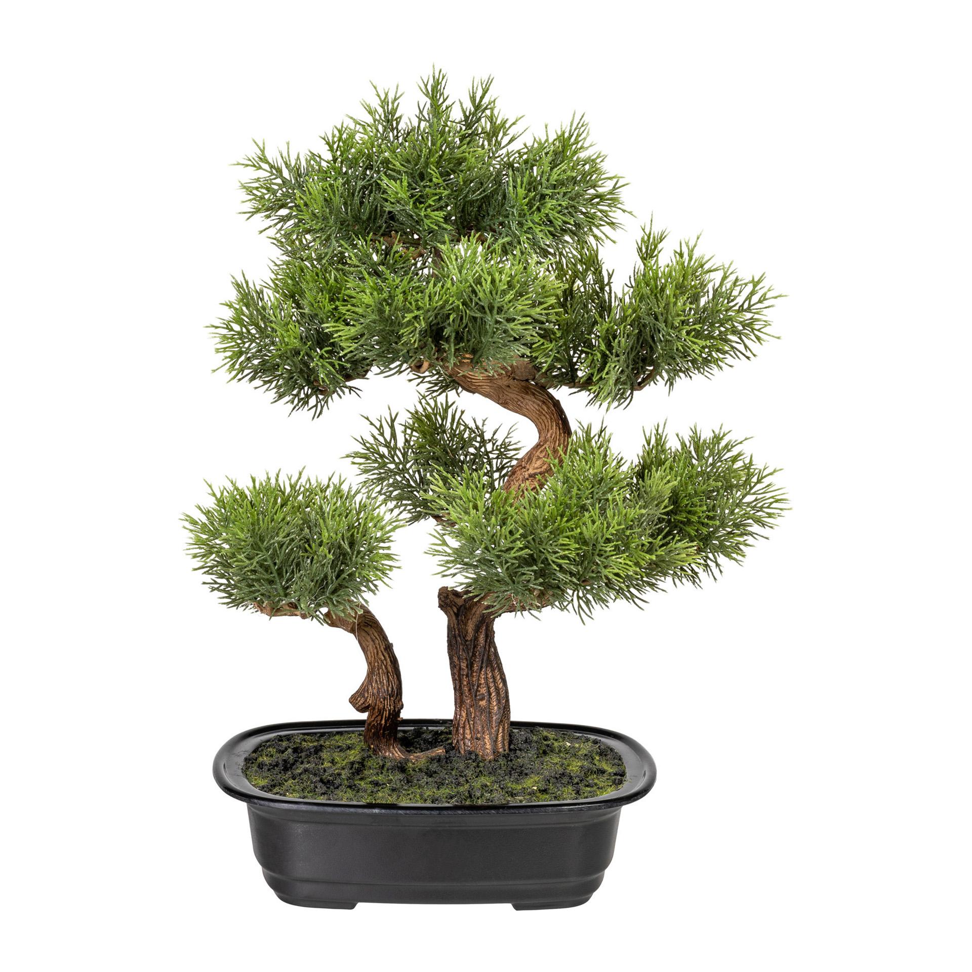 Kunstpflanze Bonsai Zeder 40cm