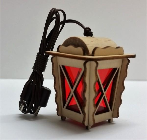 Holzlaterne 3,5V, rot