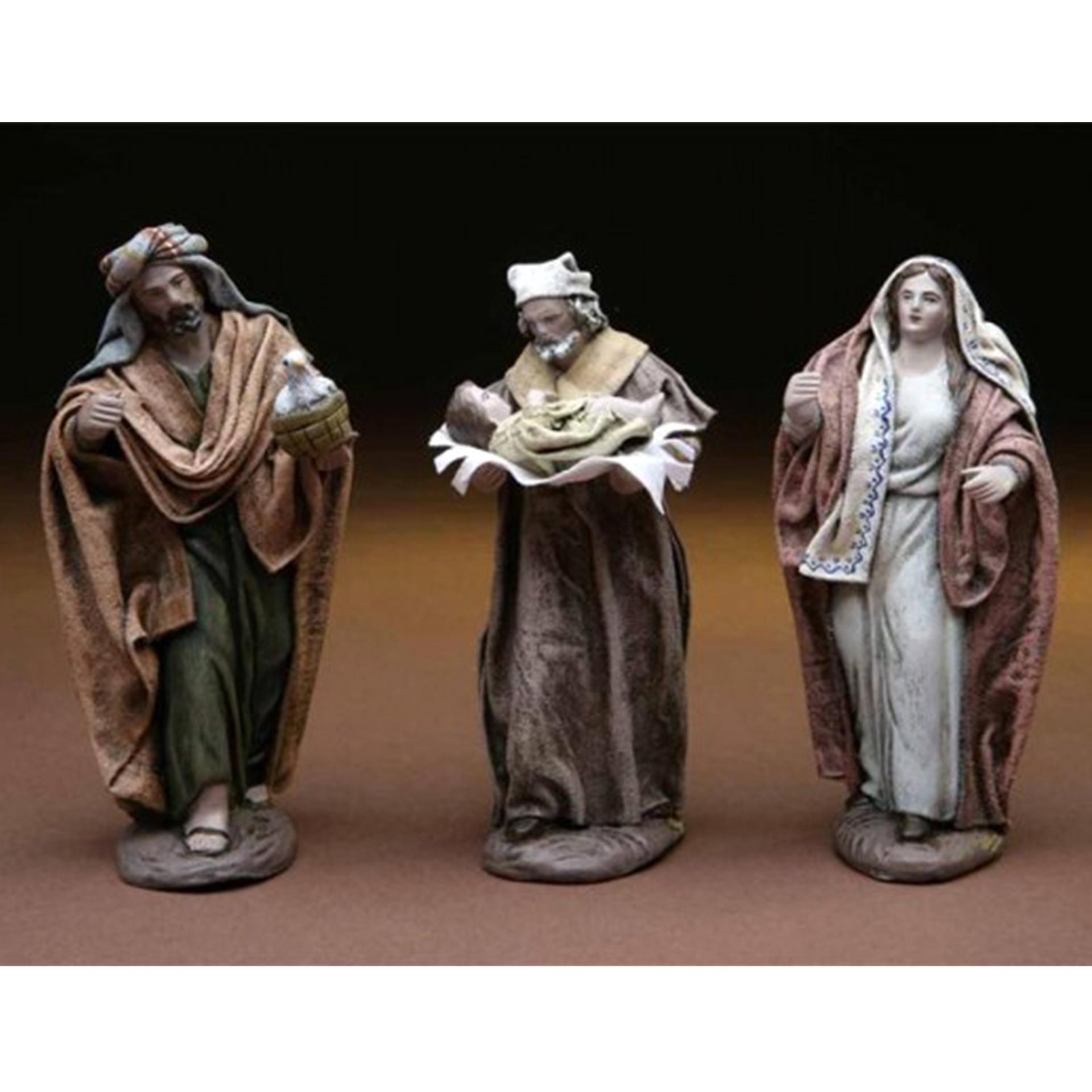 Darbringung Christi im Tempel Krippenfigur Ton