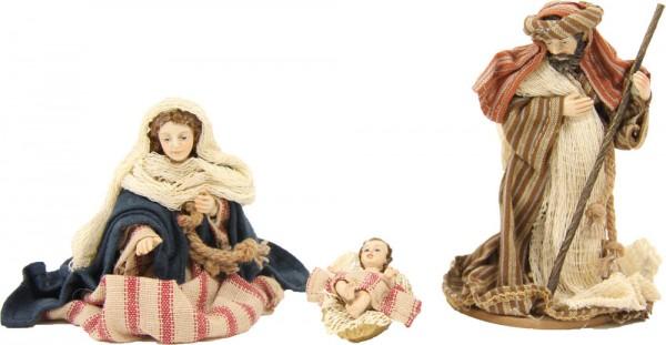 Ankleidefiguren Hlg. Familie orientalisch 3-tlg., für 13cm Figuren