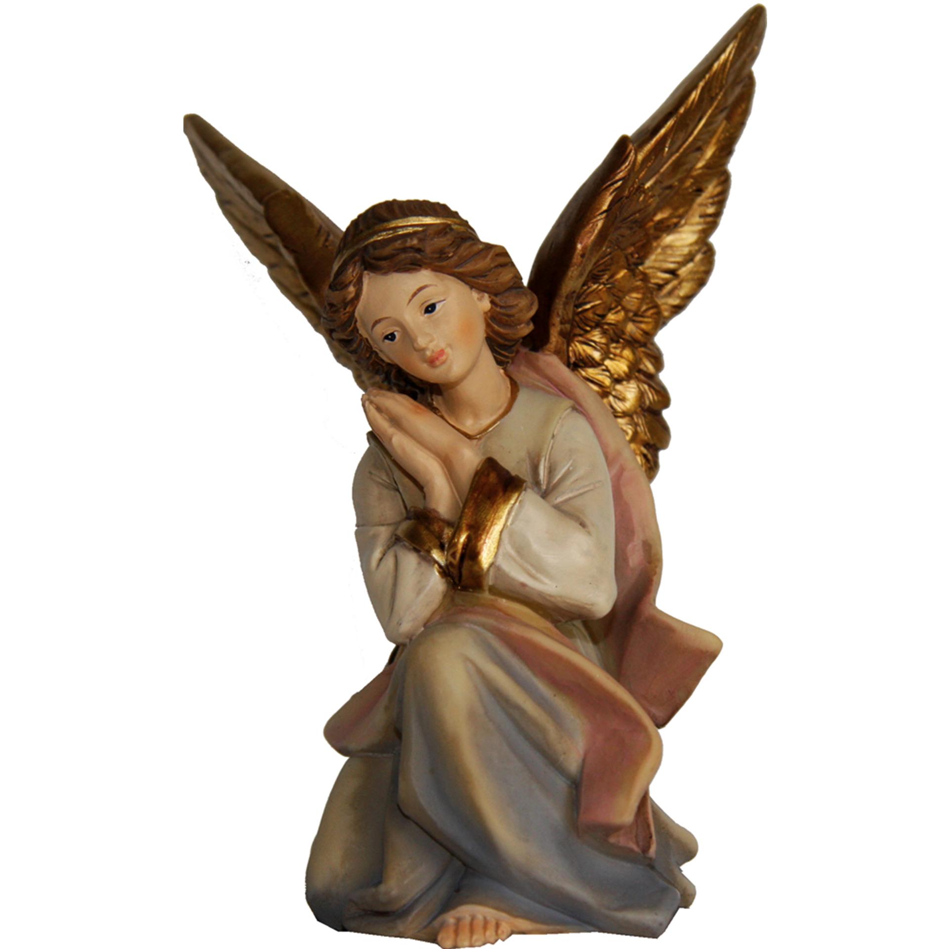 Krippenfigur Engel hockend