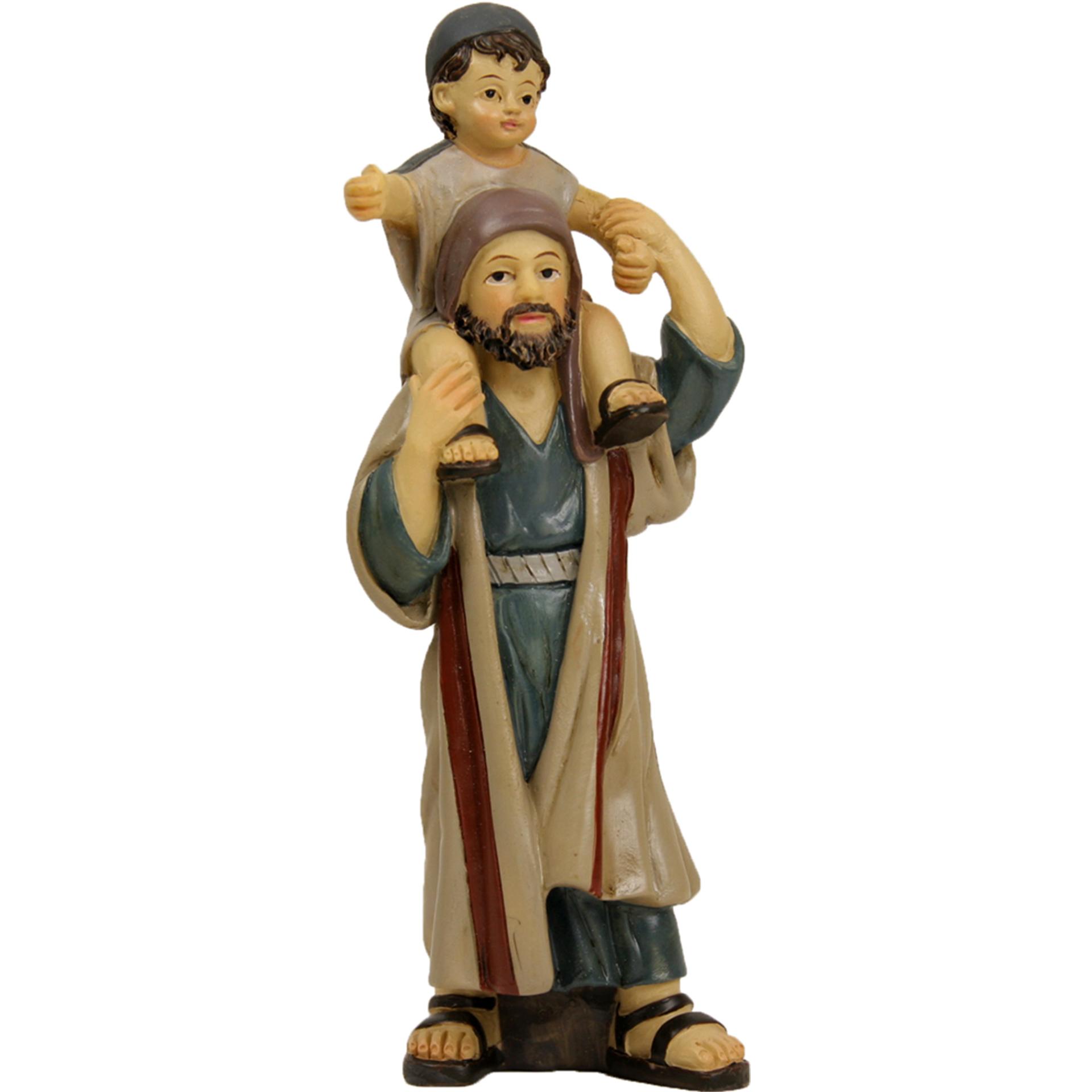 Hirte mit Kind auf Schulter Zusatzfigur Krippe