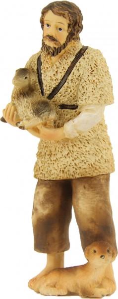 Hirte mit Schaf und Hund, für 12cm Figuren