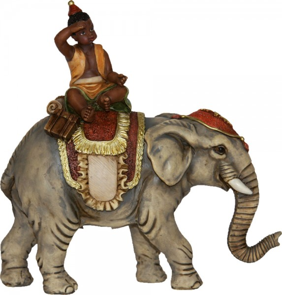 Elefant mit Mohr 8cm
