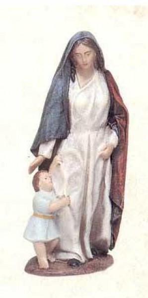 Krippenfigur Hirtin jung Kind
