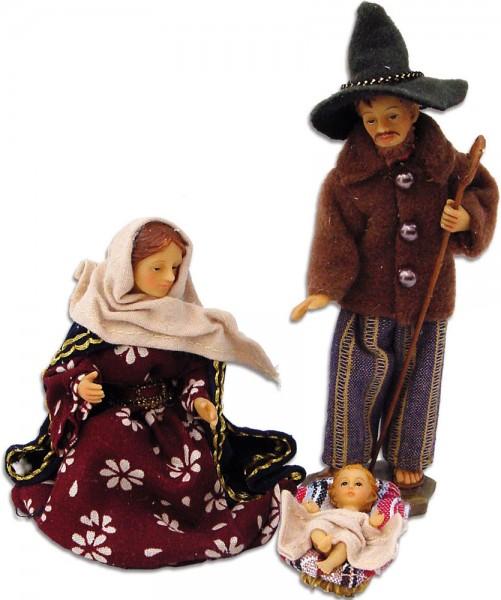 Ankleidefiguren Hlg. Familie alpenländisch 3-tlg., für 10cm Figuren