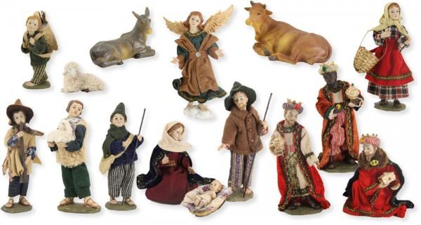 Ankleidefiguren Krippe alpenländisch 15-tlg., für 13cm Figuren