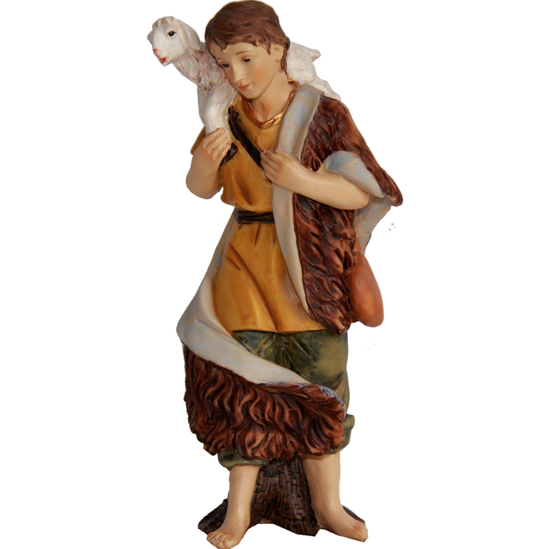 Hirte mit Schaf auf Schulter Zusatzfigur Krippe