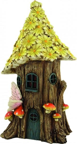 Baumhaus mit Blütendach 31x13cm