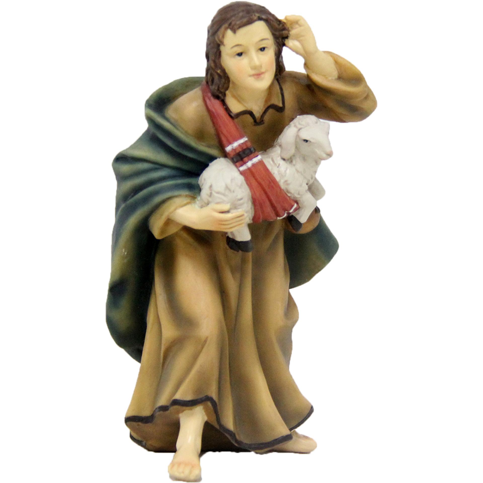 Hirtin mit Schaf Zusatzfigur Krippe