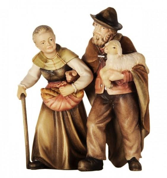 Krippenfigur Bauernpaar Bethlehem Krippe color