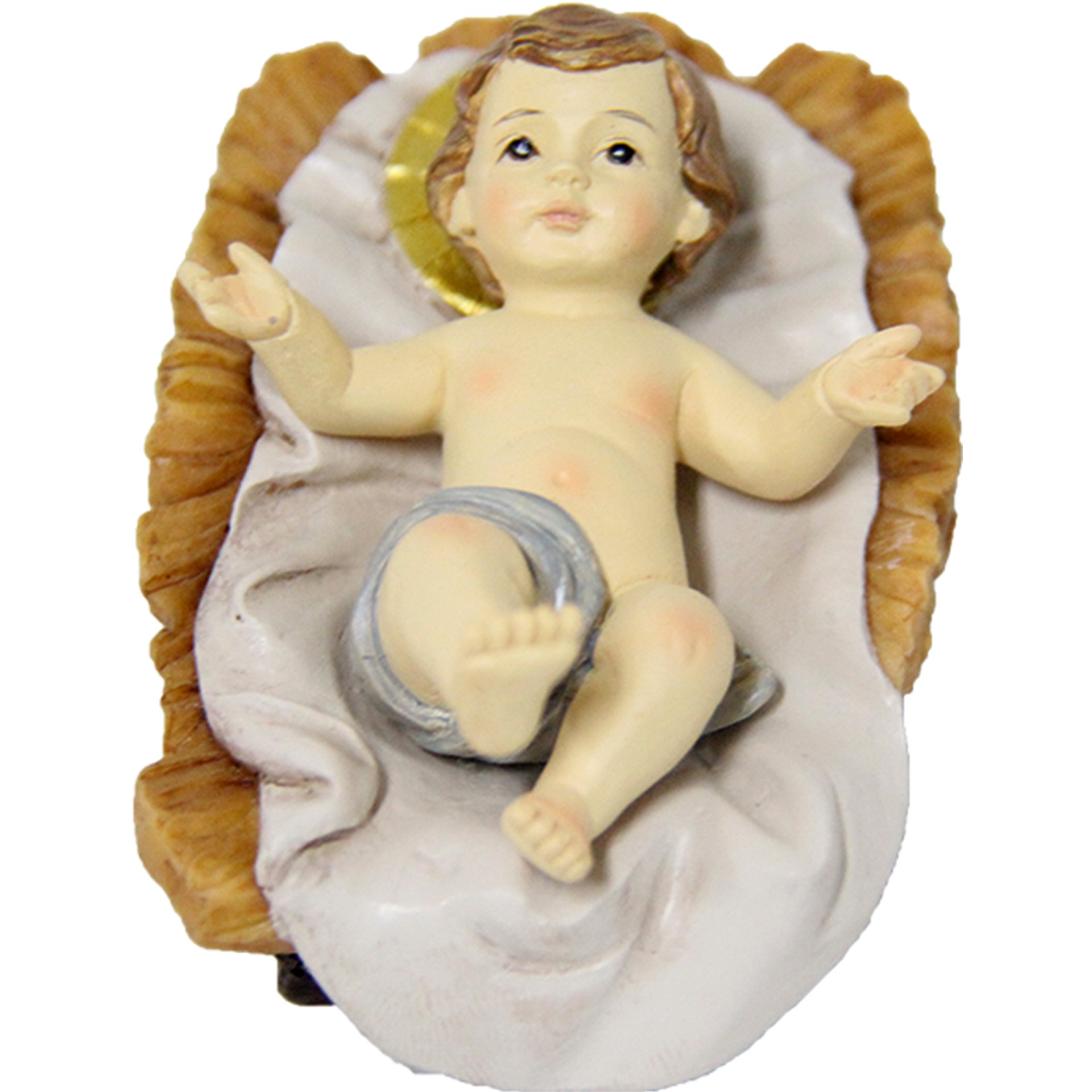 Jesuskind mit Barren Krippe