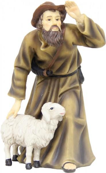 Hirte mit Schaf 15cm