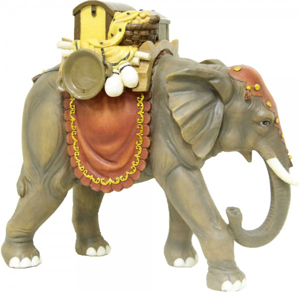 Elefant mit Gepäck 23cm
