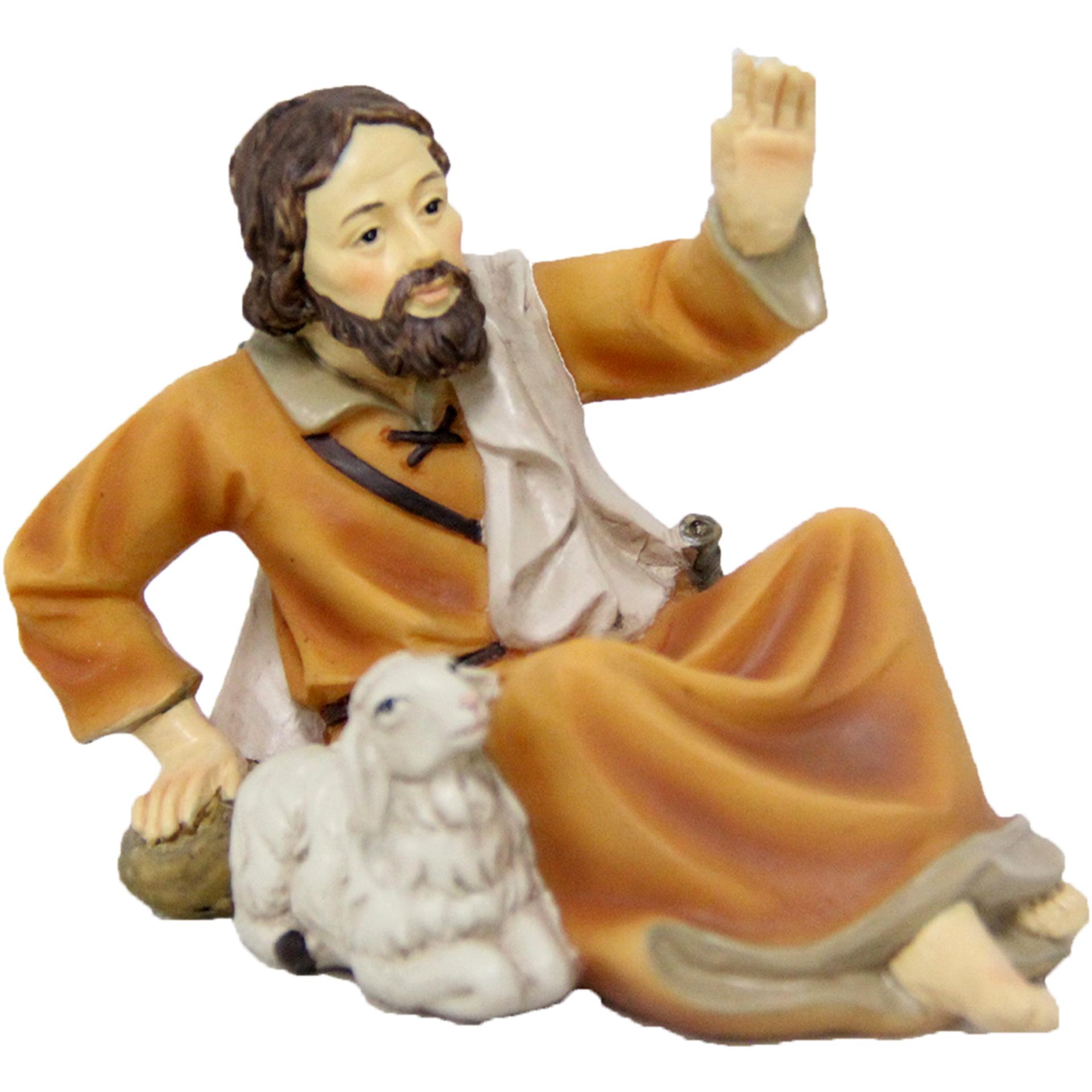 Hirte liegend mit Schaf Zusatzfigur Krippe
