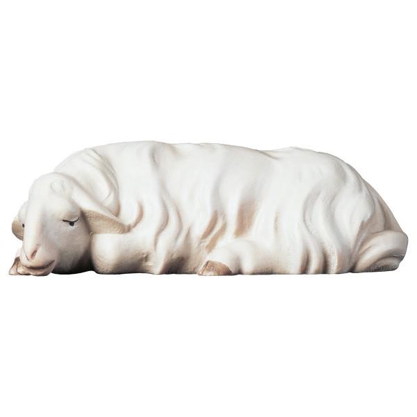 Holzfigur Schaf schlafend