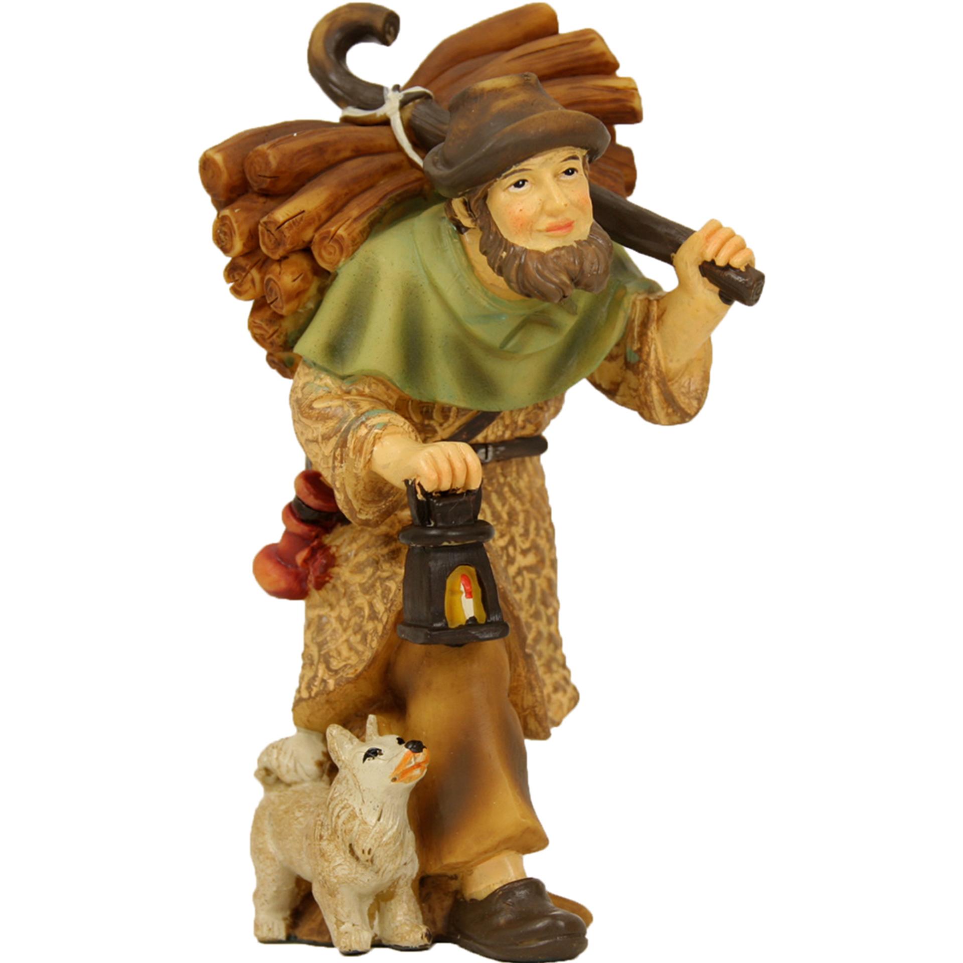 Hirte mit Holz und Laterne, für 7cm Figuren