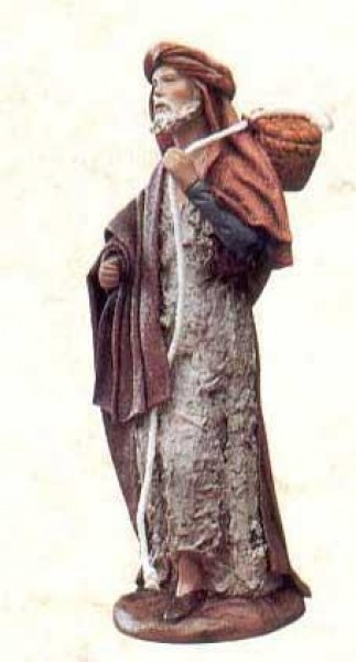 Krippenfigur Hirte Obstkorb