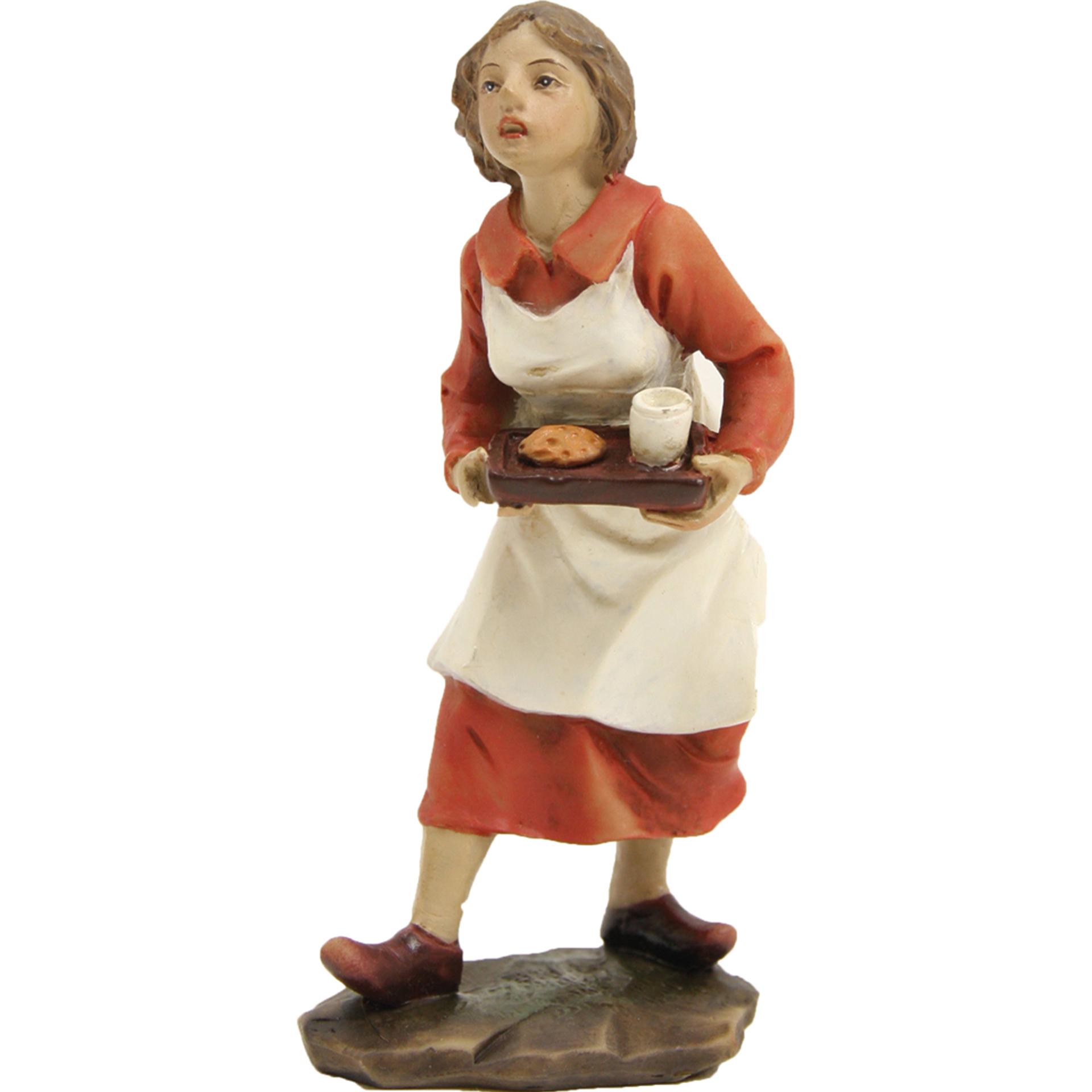 Bäuerin mit Brotzeit Zusatzfigur Krippe