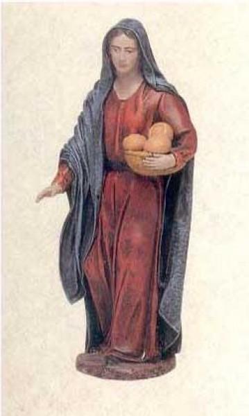 Krippenfigur Hirtin Brot