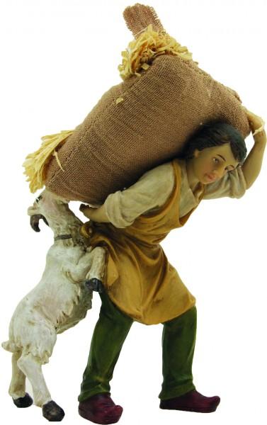 Knecht mit Sack und Ziege