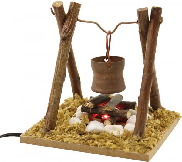 Feuerstelle mit Kupferkübel