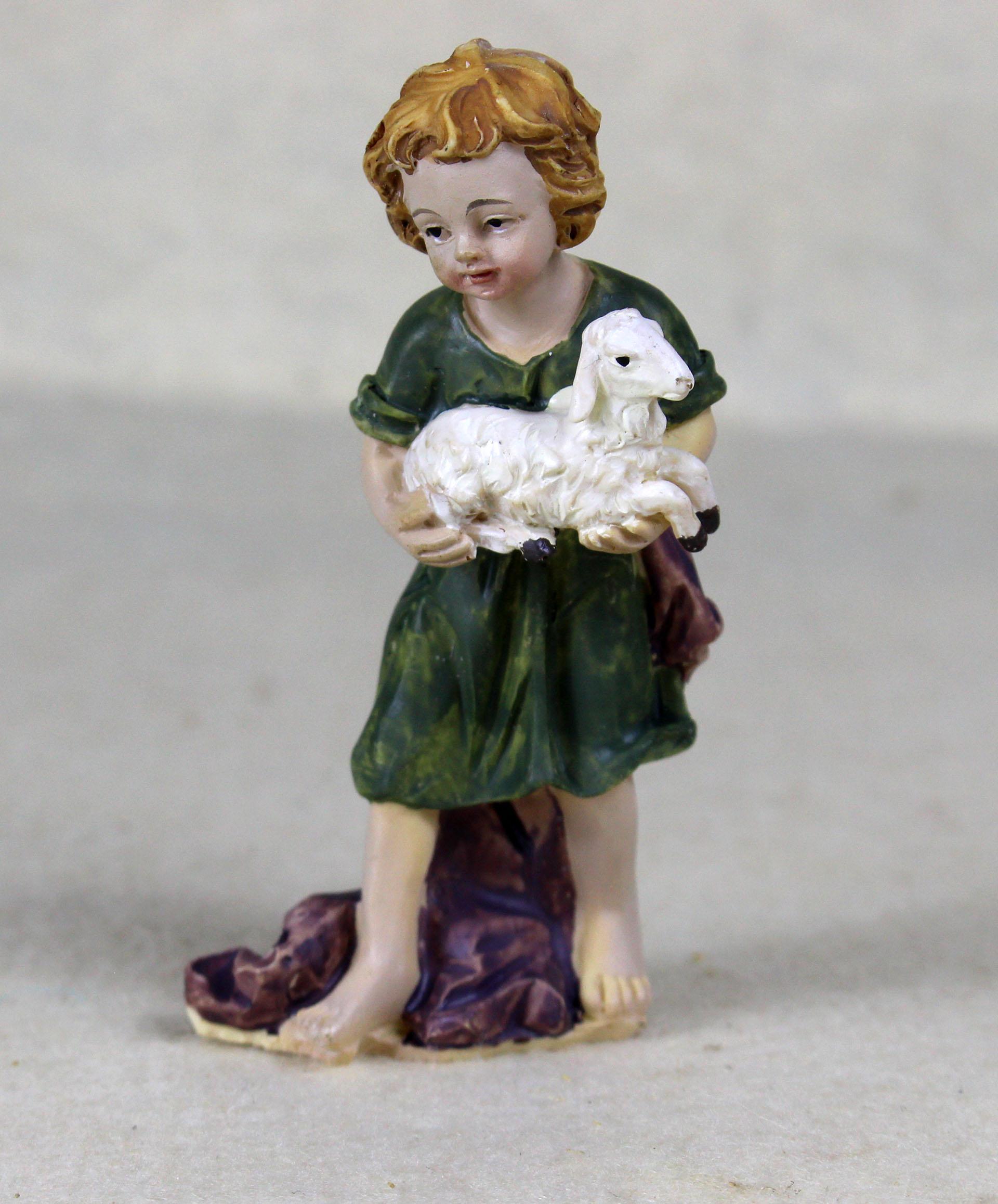 Kind mit Lamm, für 10-11cm Figuren