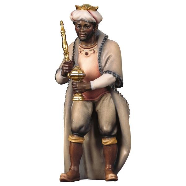 Krippenfigur König Mohr Hirten Krippe color