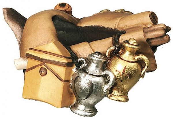 Krippenzubehör Gepäck für Kamel Bethlehem Krippe color