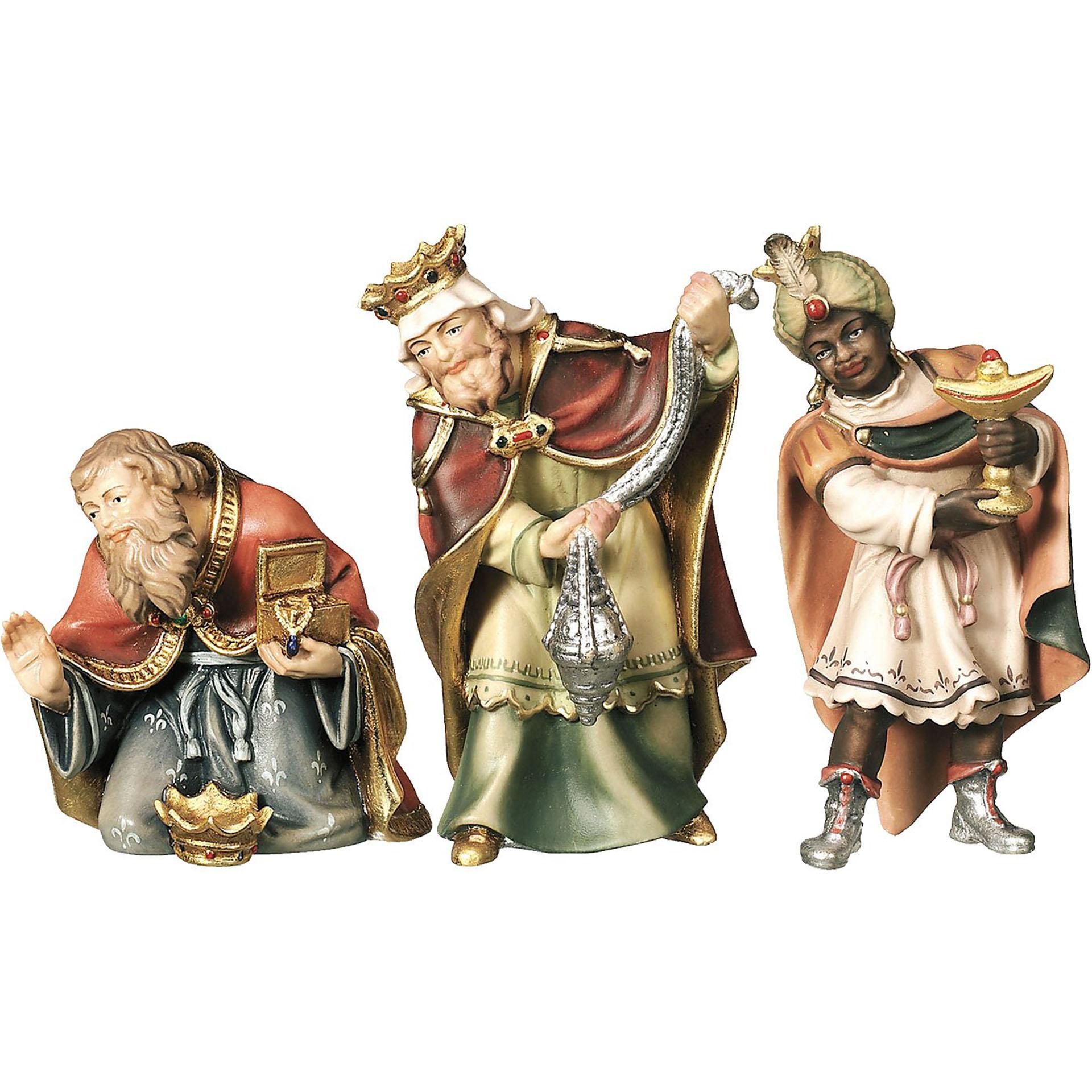Hl. Drei Könige Bethlehem Krippe 3-tlg. col., für 10cm Figuren