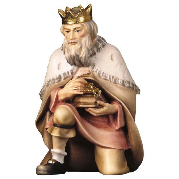 Krippenfigur König kniend Hirten Krippe color