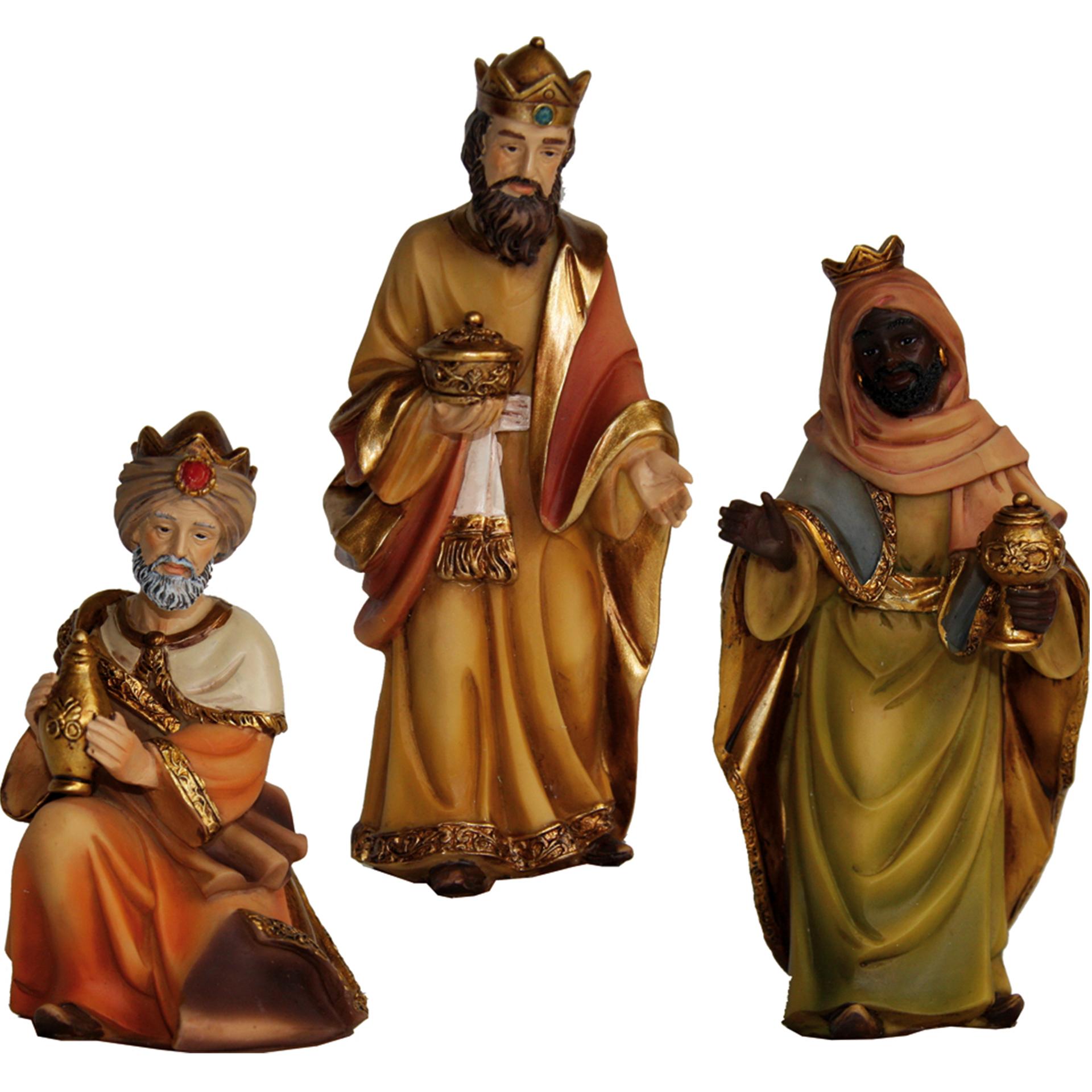 Hl. Drei Könige Markus Krippe 3-tlg., für 7cm Figuren